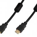 Шнур HDMI-HDMI gold, 1.5 м c фильтрами